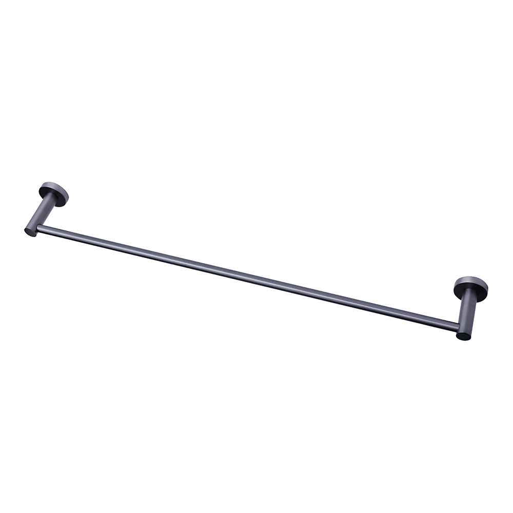 Mirage 600mm Single Towel Rail - Gun Metal
