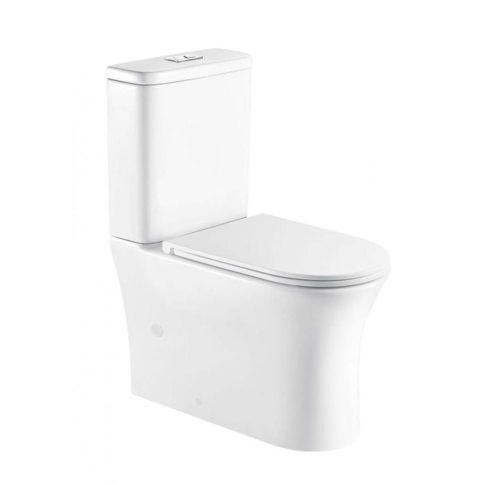 Toi Back To Wall Toilet Suite-Rimless